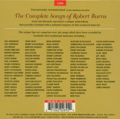 The Complete Songs of Robert Burns 12 Volume Set by Alliance