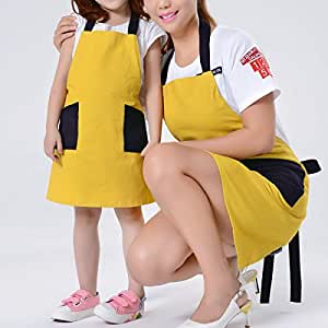 Gifts for Mothers' Day!!SOTTAE Women Apron,Kitchen Cooking Bib Apron for Women with Pockets, Yellow