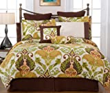 Pointehaven Hannah 12-Piece 100-Percent Cotton Luxury Full Bedding Ensemble