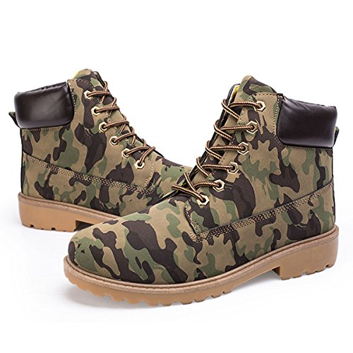CHNHIRA Unisex Camo Martin up Fashion Boots Ankle Lace az8R7a