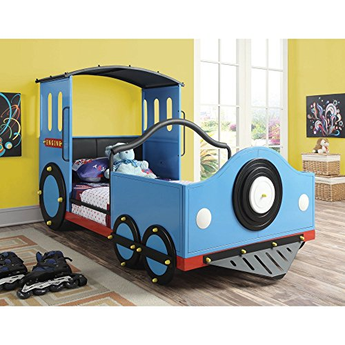 Coaster 400411 Home Furnishings Train Bed, Twin, Blue by Coaster Home Furnishings