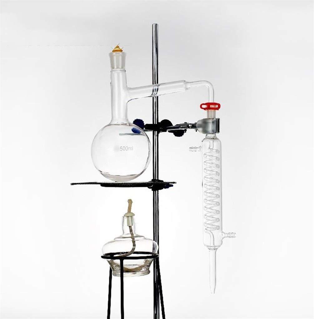 Wyyggnb Laboratory Equipment, Distillation Unit Laboratory Equipment Glassware Making Essential Oils Alcohol Distilled Water Filter Distiller by Wyyggnb