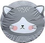 Abreeze Kids Play Rug Nursery Rug Cartoon Cat Baby