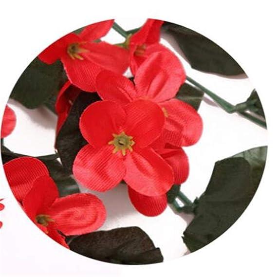 Wuxingqing Flores Artificiales Rural Montaña Planta Verde Sin Olor ...
