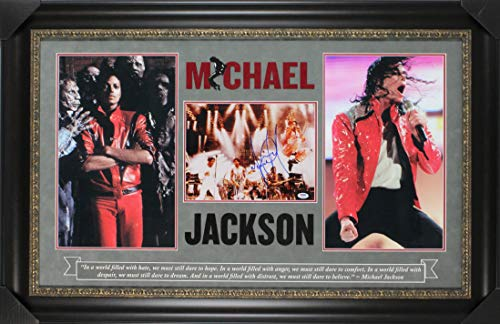 (Michael Jackson Authentic Signed 11x14 Framed Photo Autographed PSA/DNA #F93030)