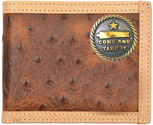 Fold Ostrich Brown Bi Wallet Print It Come and Custom Take XIw48Z4F