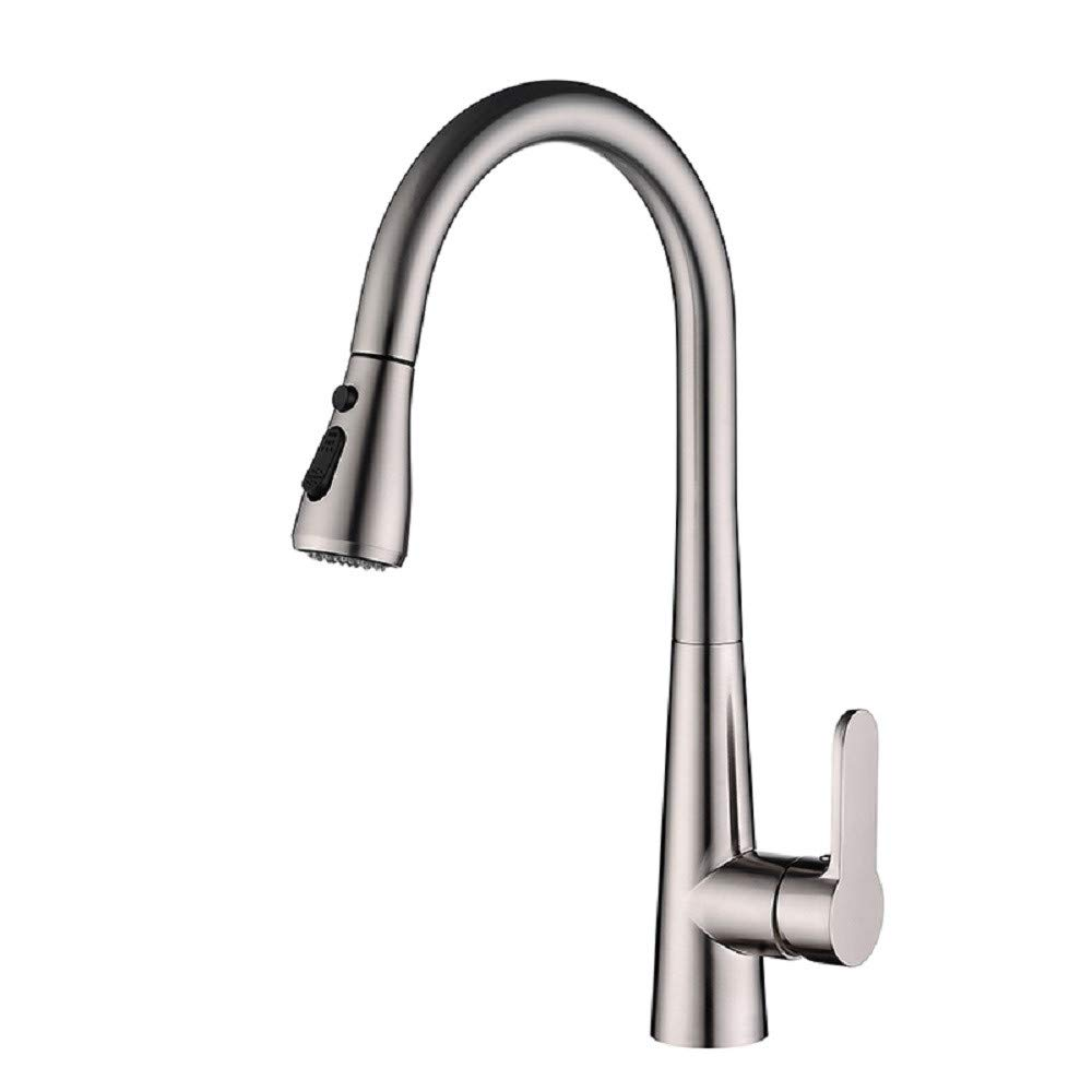 Kitchen Tap Pull-Out Hot and Cold Copper redary Tank Wash Basin Telescopic Tap Kitchen Taps Kitchen Sink Mixer Taps Basin Tap