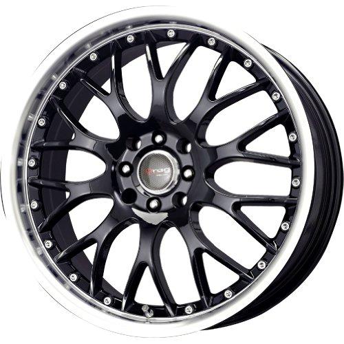 X7 5/105/ 5x110 Gloss Black polished lip rims (Drag Dr 19 Black Wheels)