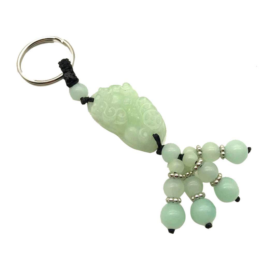 Length 13CM Milnut Key Holder Car Jade Key Ring Pendant key Chain Lovers Lucky and Safe Waist Buckle