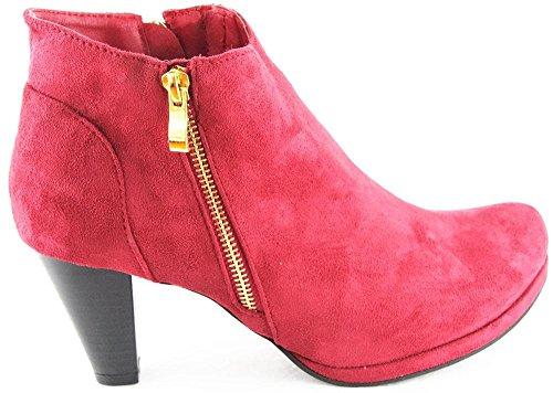 Andrea Conti Stiefel Stiefelette Schuhe Bordo 2131