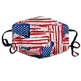 Unisex USA Flag Printed Cotton Mouth-Masks Face Mask Polyester Anti-dust Masks
