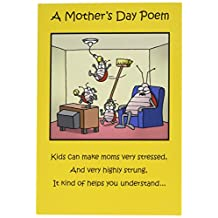 """0045 'Moms Day Poem' - Funny Mother's Day Greeting Card with 5"""" x 7"""" Envelope by NobleWorks"""