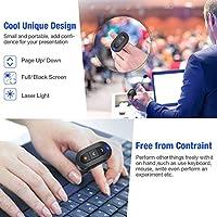 DinoFire Wireless Presenter Finger Ring USB Powerpoint Presentation Clicker  Rechargeable RF 2 4 GHz Presentation Remote Control Laser Pointer Slide