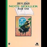 Schaum Note Spellers Book 1 (Schaum Method Supplement) book cover