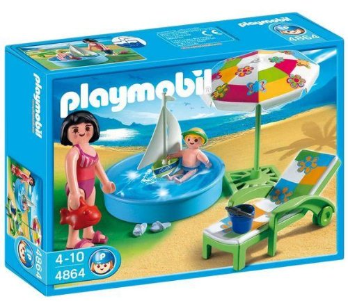 Playmobil 4858 piscina con tobog n 4864 piscina for Playmobil piscina con tobogan