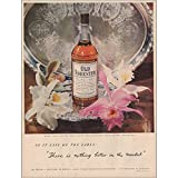 RelicPaper 1949 Old Forester: As It Says On The Label, Brown Forman Distillery Print Ad