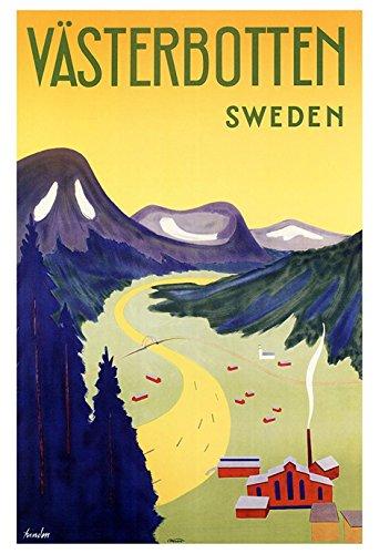 vintage travel posters sweden