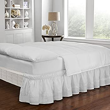 Amazon Com Easy Fit Embroidered Bed Skirt Baratta Wrap