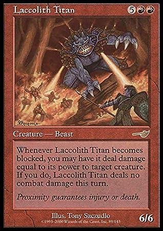 Magic: the Gathering - Laccolith Titan - Nemesis by Magic: the Gathering: Amazon.es: Juguetes y juegos