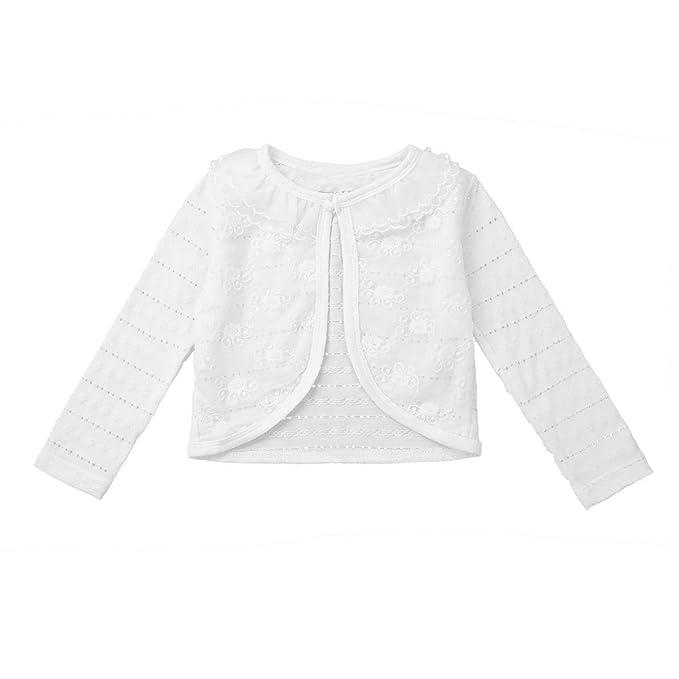 CHICTRY Chaqueta Blanca para Niña Elegantes Bolero de Princesa Capas para Vestido Fiesta Danza Cárdigan Boda Abrigo Otoño Bebé Niñas