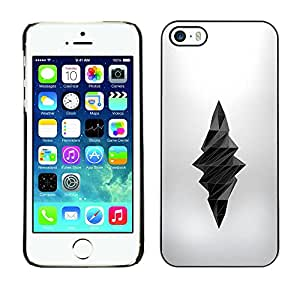 A-type Colorful Printed Hard Protective Back Case Cover Shell Skin for Apple iPhone 5 / iPhone 5S ( Poly Art Dagger Death Deep Silk Grey )