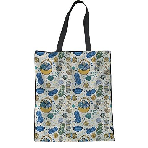 Tote Bag Yarn1 Cotton Travel Casual IDEA Lovers Bag College Book Shopping HUGS Knitting Bag Shoulder Handbag ZqzB0OnO
