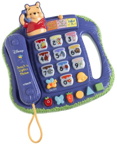 Pooh Telephone (VTech Winnie The Pooh - Teach 'n Lights Phone)