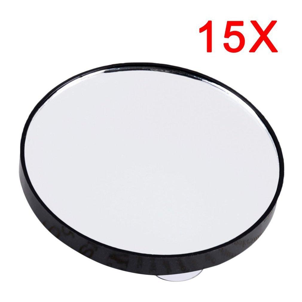 Sunsbell Mini Maquillage Miroir rond 15X Miroir grossissant avec deux Ventouse