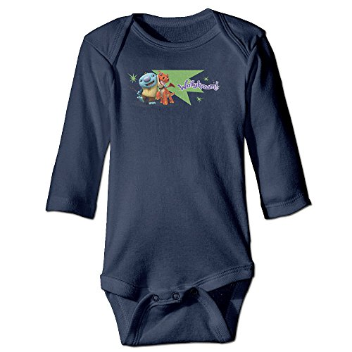Baby Kids 100% Cotton Long Sleeve Onesies Toddler Bodysuit Wallykazam! Baby Onesies Navy Size 18 Months -