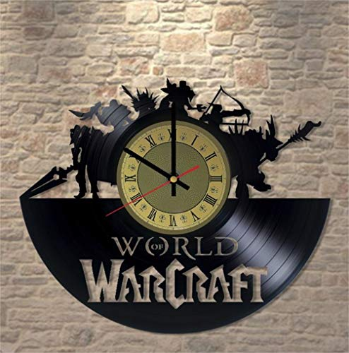 World of Warcraft Vinyl Clock | Dota 2 Wow | Best Gift for Blizzard Fans | Original Gamer Room Wall Decor