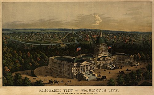 (District of Columbia, Washington - Panoramic Map (24x36 SIGNED Print Master Giclee Print w/ Certificate of Authenticity - Wall Decor Travel Poster))