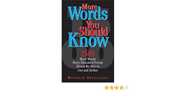 Amazon More Words You Should Know 9781593372361 Michelle
