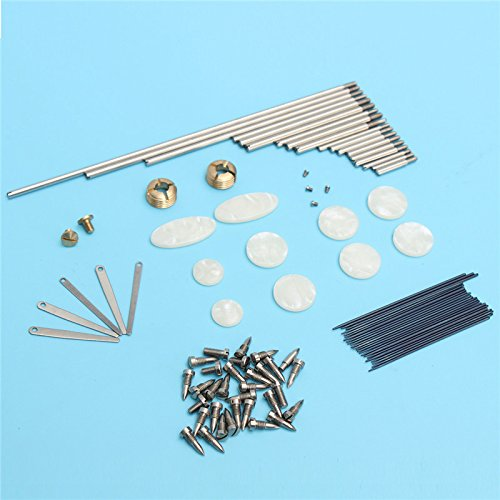 MAUBHYA Tenor Sax Saxophone Repair Parts Rollers Screws Spring Key Buttons Inlays Set