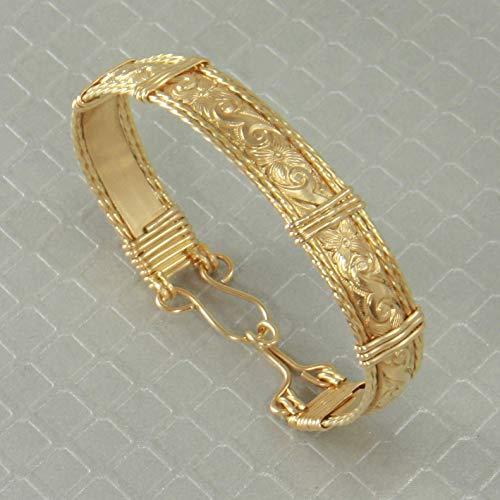 Handmade 14k Gold Bangle Bracelet, Wire Wrapped Jewelry, Custom Order