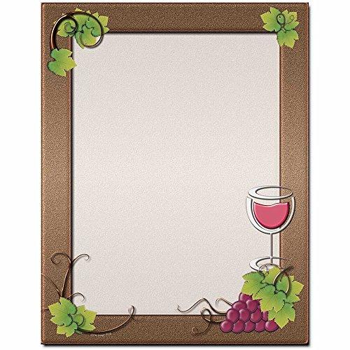 Grape Vine Letterhead Laser & Inkjet Printer Paper, 100 pack - Border Letterhead 100 Sheets