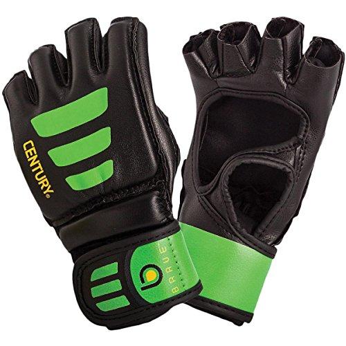 Century Brave Youth Open Palm Glove Black/Green S/M ()