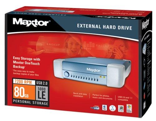 Maxtor Usb Storage - Maxtor R01J080 External USB 2.0 7200 RPM 80 GB w/2 MB Cache