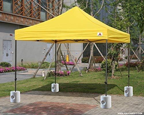 ABCCANOPY Pavillonstandf/ü/ße 4er Set mit Wasser//Sand bef/üllbar,Gewichte f/ür Pavillons Gartenzelte Festzelte,Grau