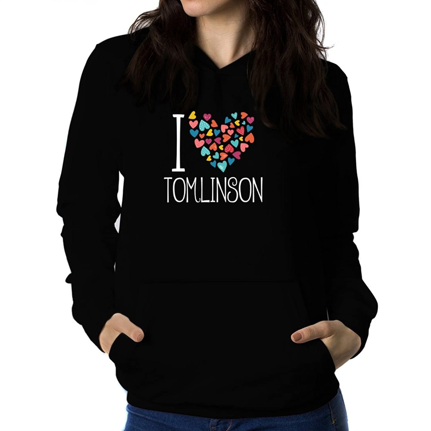 I love Tomlinson colorful hearts Women Hoodie