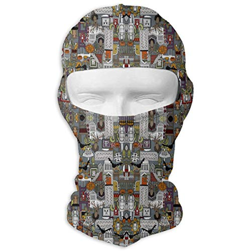 SWIJHAN Halloween Supper XIII Large Fabric Balaclava Face Mask Breathable Outdoor Sports Motorcycle Cycling Snowboard Hunting -