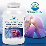 Nature's Lab Hyaluronic Acid with Biocell Collagen and MSM, 180 Count (Pack of 4)