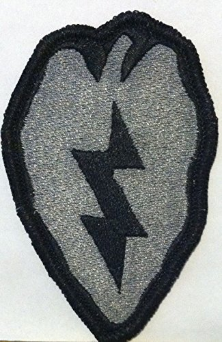 25th Infantry Division Iron On Patch Black & Gray Version The
