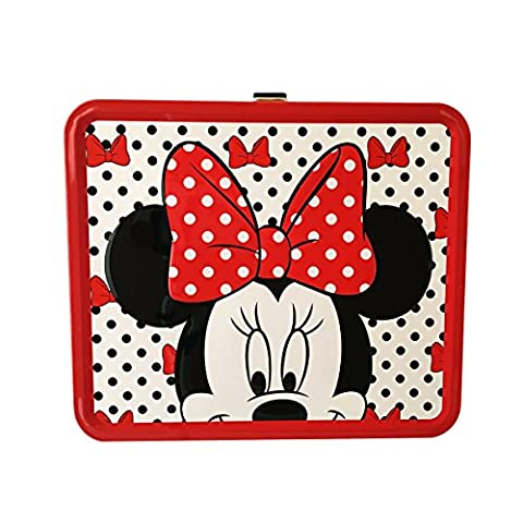 Disney Minnie Mouse Black, Red and White Polka Dot Lunch Box Tin