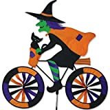 Premier Kites PMR25998 Witch on Bicycle Garden Spinner