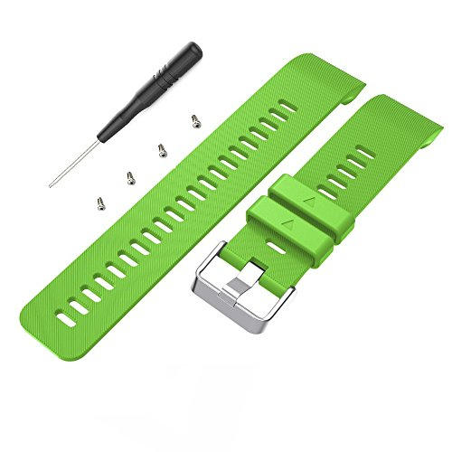 aczer-Y Garmin Forerunner 35 Accessories Watchbands,10 Color Replacement Watch Band with Stainless Buckle and Rubber Strap for Garmin Forerunner 35 Wrist Band