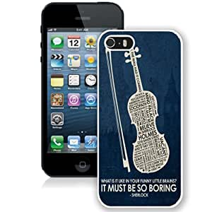 Grace Protective iPhone 5s Case Design with Design in Sherlock Iphone 5 5s Generation Case in White Kimberly Kurzendoerfer