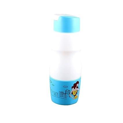 Patrón de dibujos animados de plástico botella de la bebida taza de agua 700ML Cielo Azul