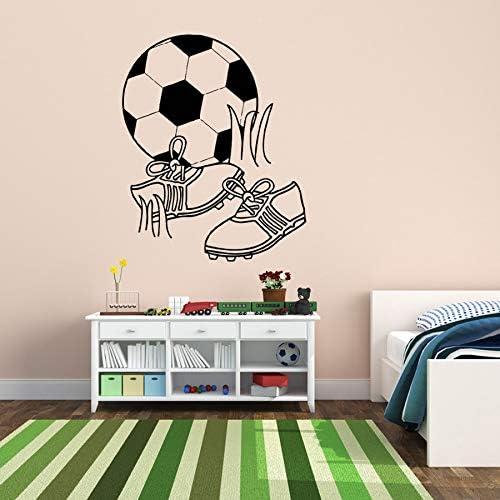 Crjzty Fútbol Pelota de fútbol Botas Jugar Pegatinas de Pared para Nursery niños niños Dormitorio Sala de Juegos de Vinilo calcomanías Sala de Estar decoración de Arte 56 * 68 cm: Amazon.es: Hogar