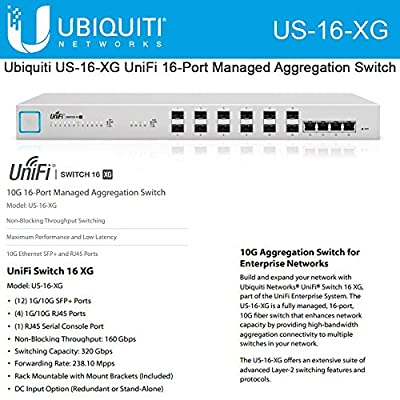Ubiquiti US-16-XG UniFi Enterprise 16-Port Managed PoE+ Gigabit Switch with