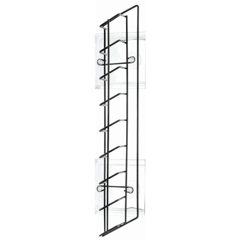 Drink Door Rack For Refigerators and Coolers, Black Powder-Coated Steel - 23'' L x 3'' W x 5'' H by Hubert